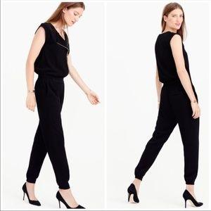J.Crew Asymmetrical Black Jumpsuit Size 6